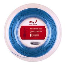 MSV Focus-Hex 200M Hellblau Tennis Saitenrolle 200m Blau NEU