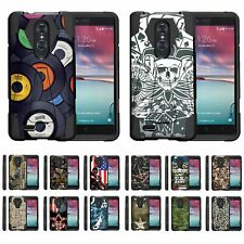 For ZTE ZMax Pro / Blade X Max Dual Layer Hybrid Kickstand Fitted Case Cover