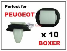 10 x PEUGEOT BOXER EXTERIOR SIDE MOULDING LOWER DOOR TRIM RUB BUMP STRIP CLIPS