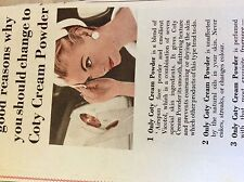 b1j ephemera 1953 film advert coty cream powder beauty