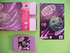 N64 Iggy's Reckin' Balls Video Game Complete w.Box and Instructions Acceptable