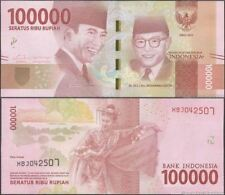 Indonesia 100000 Rupiah 1st Replacement 2016 (UNC) XAA 093575