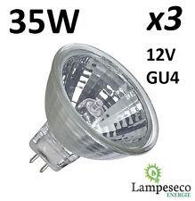3 Ampoules dichroique halogène à économie d'énergie MR11 GU4 12V 35W (25W)