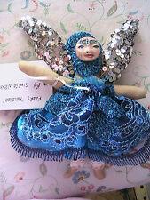 "GORGEOUS FAIRY PRINCESS~ANGEL ""Melinda"" cloth art doll *OOAK 9"" tall made by me"