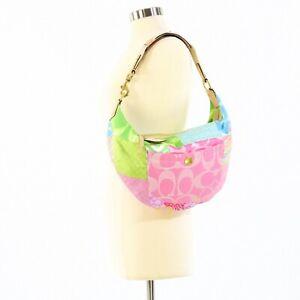 Coach Patchwork Bucket Purse #N-MO5Q-464 EUC Colorful Shoulder Bag