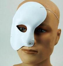 White Phantom Of The Opera Face Mask Theatrical Halloween Fancy Dress