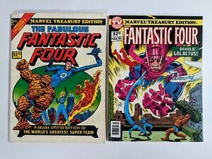 MARVEL TREASURY EDITION lot of 2-The Fantastic Four #'s 2 & 21 comics collection