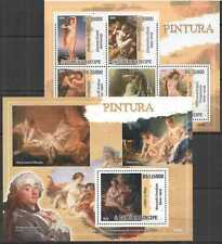 NS103 2009 SAO TOME & PRINCIPE EROTIC ART PAINTINGS BOUCHER 1BL+1KB MNH