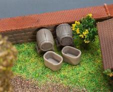 Faller 272912 N Gauge, 4 Barrels and 4 Vats, Miniature Model Kit 1:160