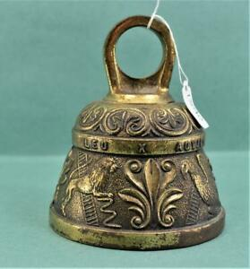 Antique Old Rare Handcrafted Dots Design Heavy Bell Metal Bronze Tumbler