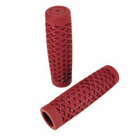 Harley Bobber Chopper Cafe Racer RED PopCoke Bottle Style Rubber Grips for use with 1 Handlebars//Bars and Exterior Cables
