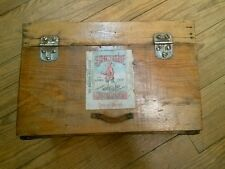 Antique Detroit Bottling Works Hinged Wooden Crate with Scotten Dillon Label