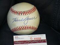 Hank Bauer Autographed Baseball JSA Certified