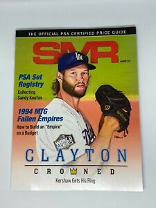 PSA Sports Market Report (SMR) Magazine (January 2021) Clayton Kershaw