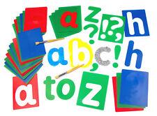 Large Alphabet Letter Stencils Cut Out Templates Upper Lower Case & Numbers 17cm