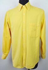 PAUL & SHARK Yachting 40 Men 15 3/4 Casual Shirt Long Sleeved Yellow Polo Medium
