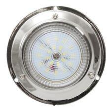 "LED Chrome Dome Light, 12 Volt, Interior, 106mm, 3"" Boat, Caravan, RV"