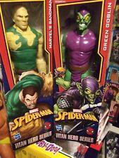 Marvel Spider-Man Titan Hero Series: Green Goblin & Sandman Action Figures!