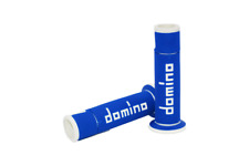 Domino A450 Blue / White Open End Road & Race Grips to fit  Yamaha TDM850