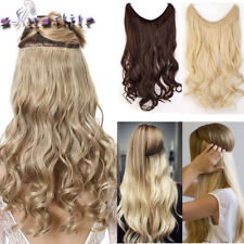 100% Real Natural Elastic rope Wire in Hair Extensions Curly Wavy Straight YL79