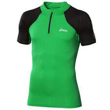 Magliette da uomo verde basica in poliestere