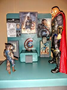 Marvel legends worthy Captain America 6 inch custom memorial tribute diorama