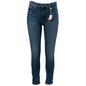 TOMMY JEANS Damen Jeans Nora Skinny Ankle Zip Jasper Mid Blue / W29 (28) L32