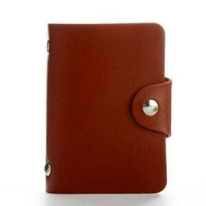 24 card pockets, business card holder male and female PU leather
