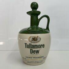 Vintage Tullamore Dew Ceramic Irish Whiskey Decanter with Stopper