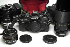 Minolta X-700 + Tokina EL 28mm F2.8 + Vivitar 300mm F5.6