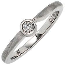 Diamant solitäre Echtschmuck-Ringe aus Platin