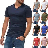 NEU Jack & Jones Herren T-Shirt Basic Kurzarmshirt V-Neck Shirt Color Mix