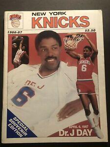 1987 NEW YORK Knicks PHILADELPHIA 76ers JULIUS ERVING Retires from NBA DR J Day
