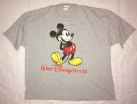 Vintage Walt Disney World Mickey Mouse Gray T-Shirt - Size XL