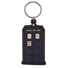 Official Doctor Who TARDIS Rubber Flexible Keyring - Retro Police Box Retro Gift