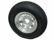 "Hiway Mast ST205/75R15 Radial Trailer Tire LR C Galvanized Spoke 15"" 5-4.5 Wheel"