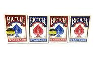 4 DECKS BICYCLE PLAYING CARDS STANDARD POKER GAME AND ENTERTAIN- 2 RED, 2 BLUE