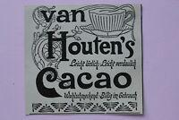 Werbung Jugendstil 1900 Niederlande Van Houten Kakao Cacao Holzschnitt Anzeige