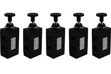 5x Hand Push Pull Pneumatic Air Control Valve 3 Port 3 Way 2 Position 1/2