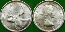 1958 Canada Silver Quarter Graded as Brilliant Uncirculated From Original Roll