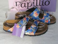 NEW Papillio By Birkenstock Ladies Navy Blue Floral Mules Sandals UK Size 3.5 36