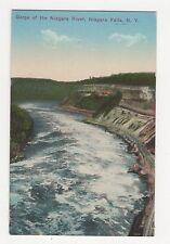 USA, Gorge of Niagara River, Niagara Falls NY Postcard, A809