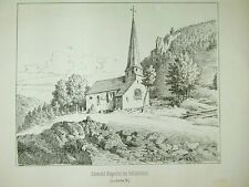 Sankt Oswald Kapelle Höllental Steig Breitnau Schwarzwald Litho 1884