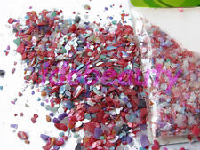 NAIL ART DESIGN CRUSHED SHELL MIXED PASTEL COLOURS COARSE GRIT 5g