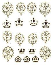 One Stroke Sticker,Gold, Krone ,Tattoo, Aufkleber  Nr.1373
