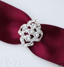 10 Oval Crystal Rhinestone Wedding Invitation Buckles