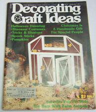 Decorating Craft Ideas Magazine Halloween Haunting October 1978 021713R