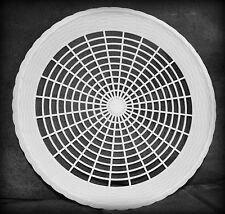 8 NEW WHITE PLASTIC PAPER PLATE HOLDERS, PICNIC, BBQ