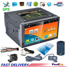7''HD Bluetooth Touch Screen Car MP5 GPS Stereo Radio Android 5.1 & Rear Parking