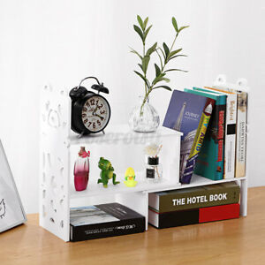 Adjustable Bear Desktop Bookshelf Organizer Storage Rack Holder Shelf Display AU